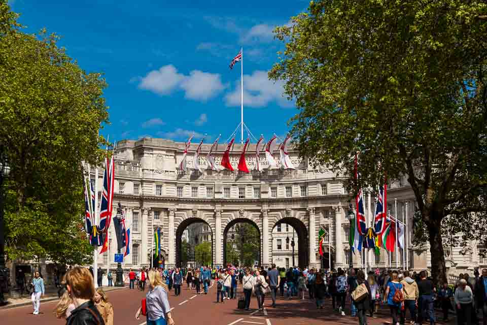 London Admiralty Arch on VE Day