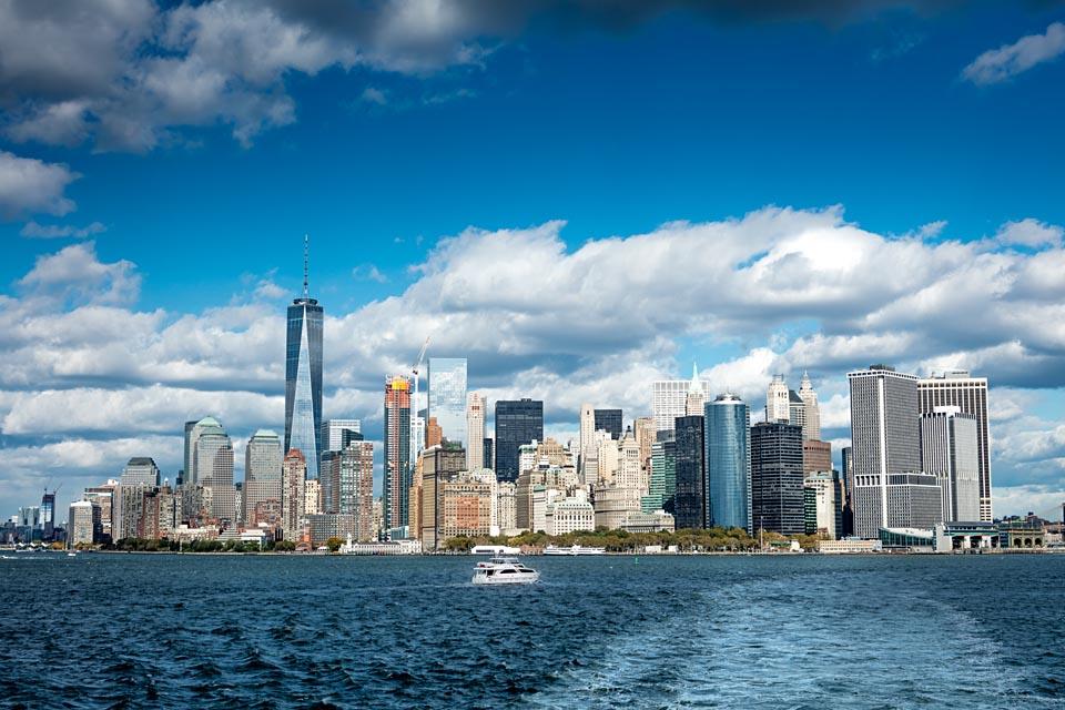 Lower Manhattan with One World Trade Center