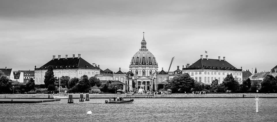 Frederiks Kirke & Amalienborg in Copenhagen, Denmark