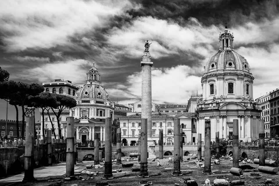 Piazza Foro Traiano in Rome, Italy