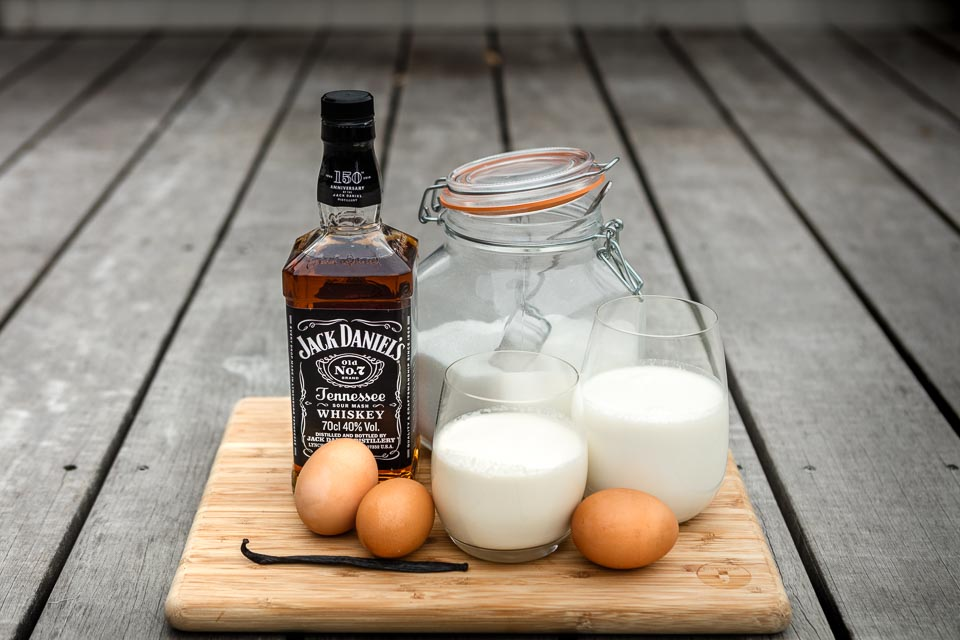 Ingredients for Jack Daniel's Ice Cream