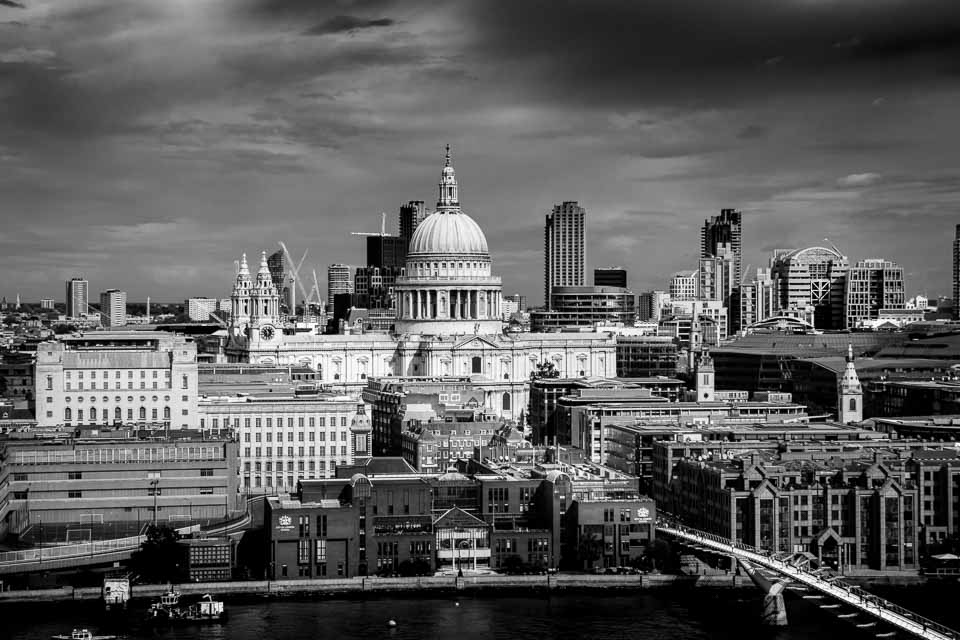 London's St. Paul's Cathedral Seen from Tate Modern
