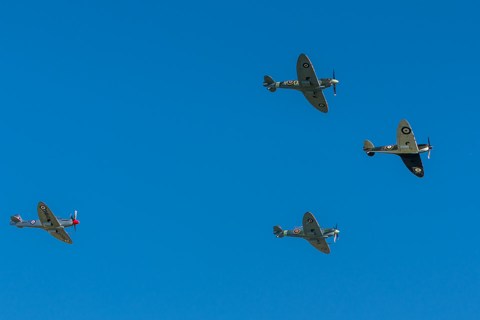 Flight of Supermarine Spitfires