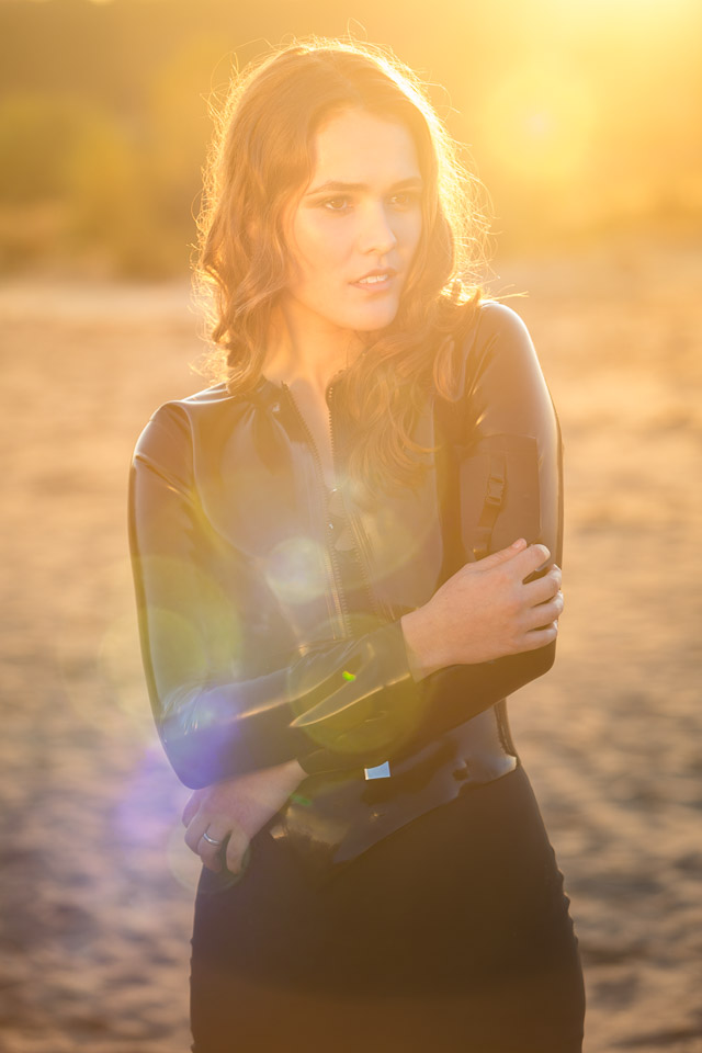 Shannety in Latex by Meat Clothing and Pandora Deluxe at Sunset