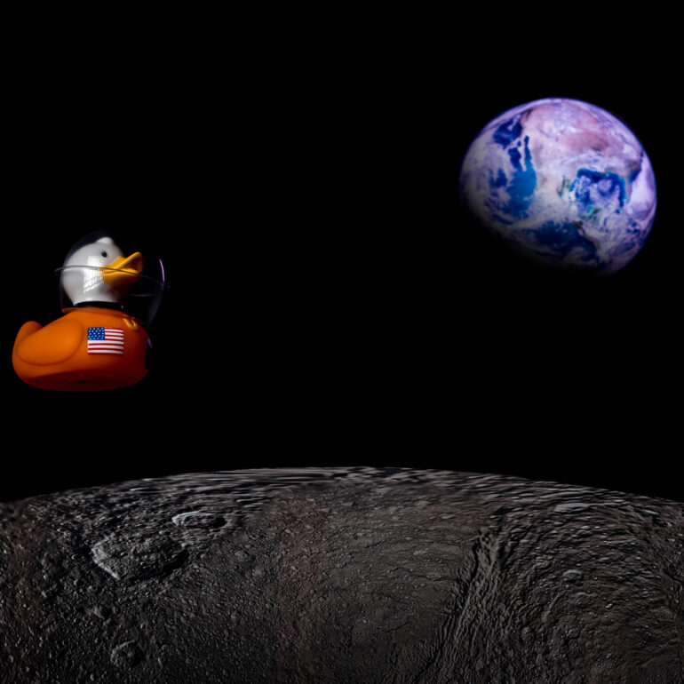 #duckie in Space