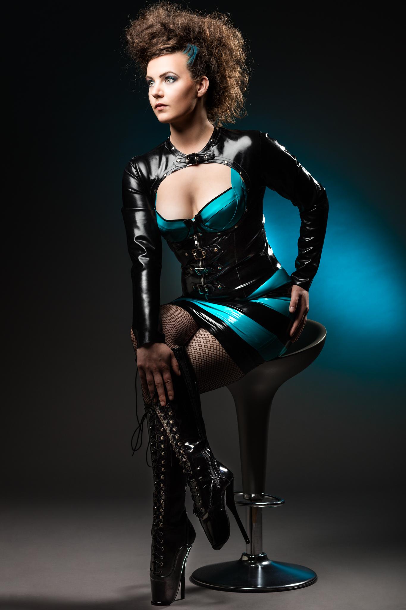 Eva Dressed in Westward Bound Latex