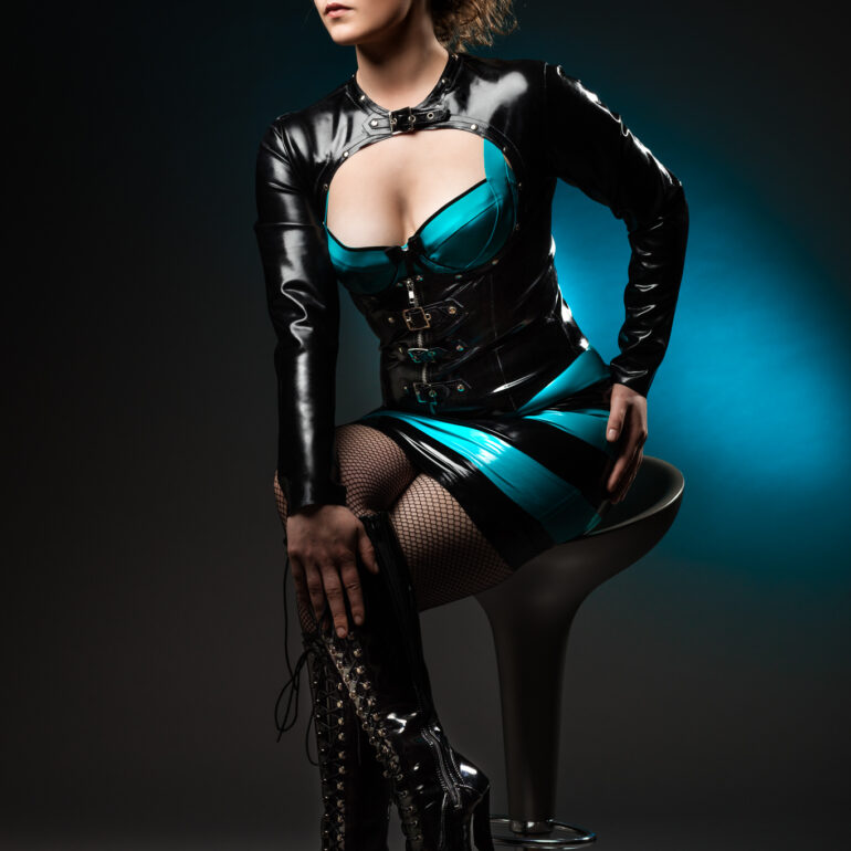 Eva Dressed in Westward Bound Latex