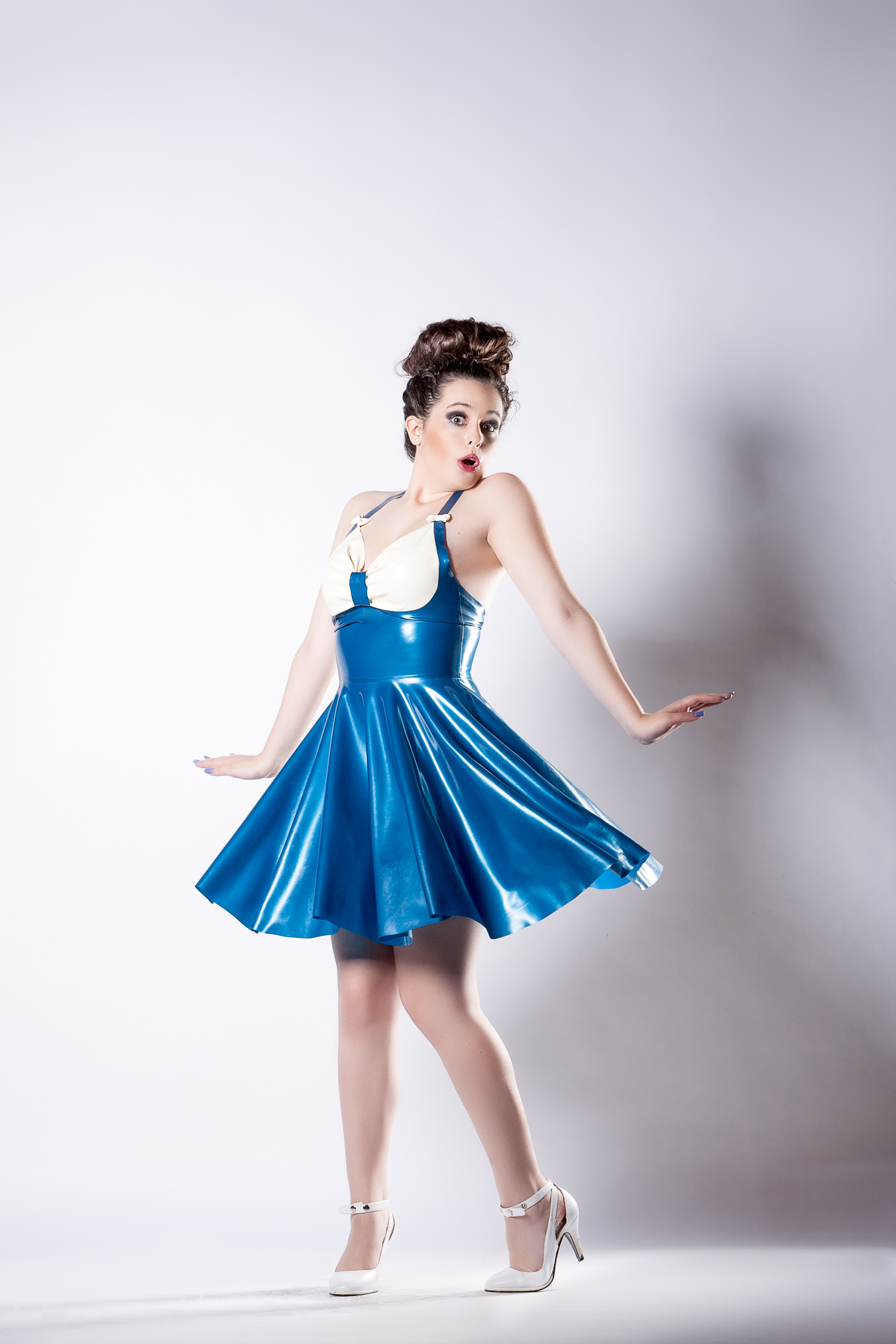 Melanie Feels Like Marilyn in this Naucler Design Latex Dress