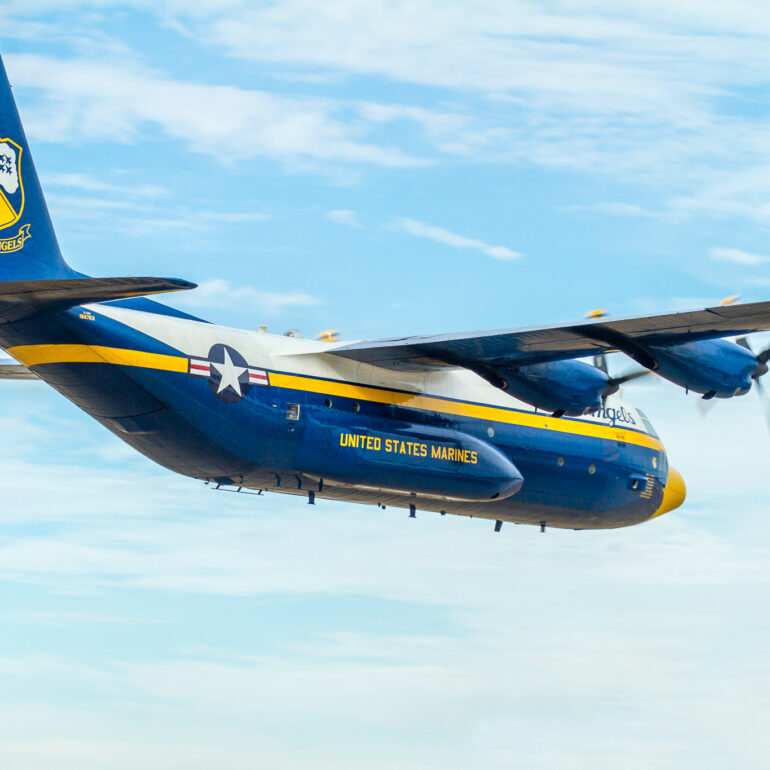 "Lockheed C-130 Hercules ""Fat Albert"" of the Blue Angels"