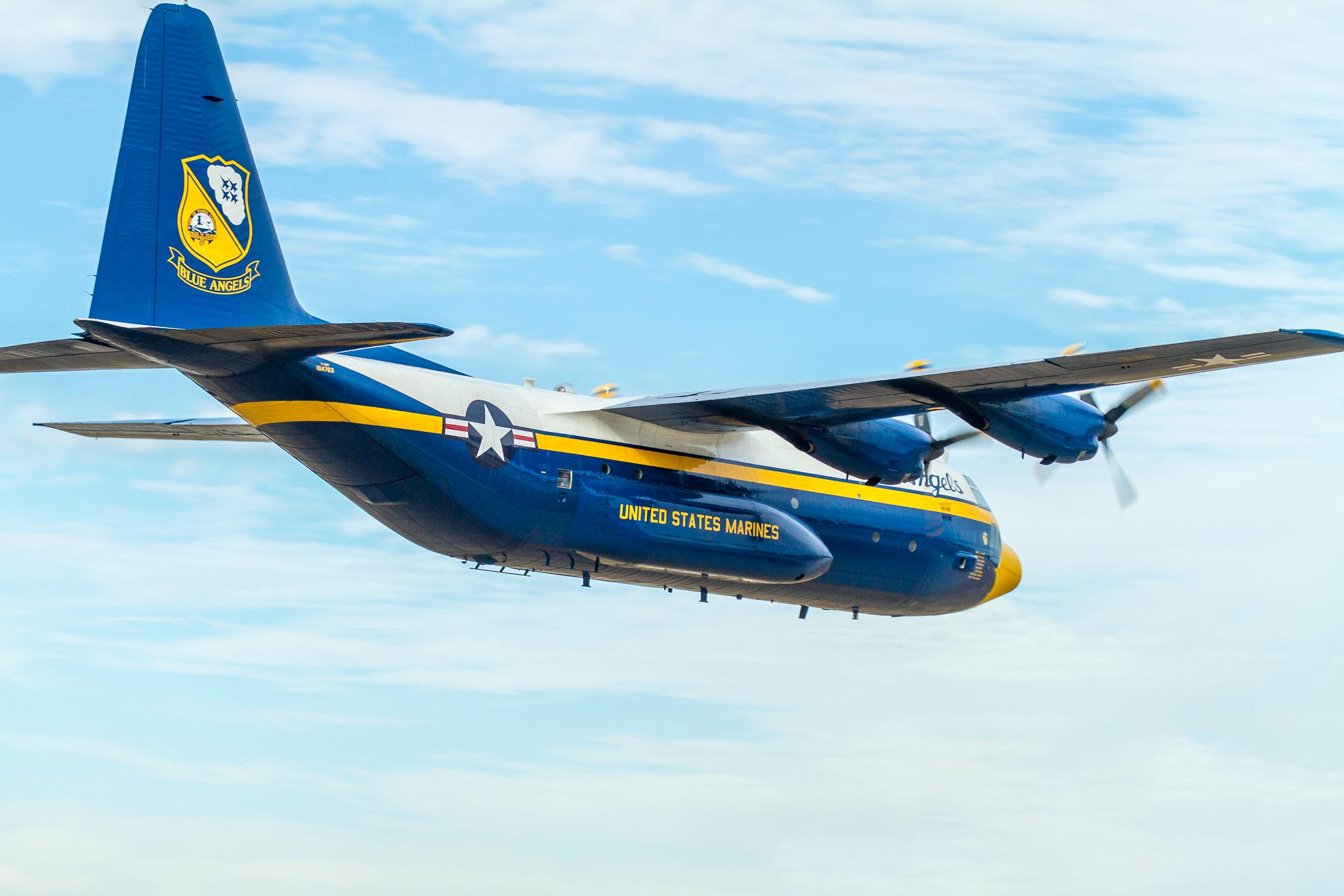 """Lockheed C-130 Hercules """"Fat Albert"""" of the Blue Angels"""
