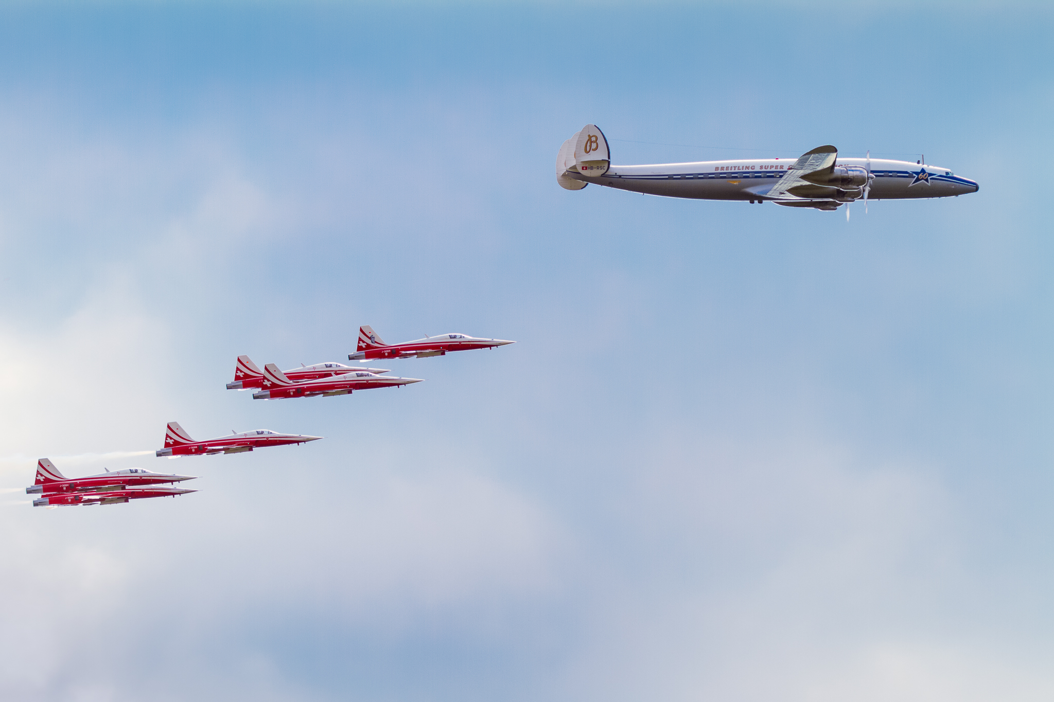Patrouille Suisse & the Lockheed Constellation