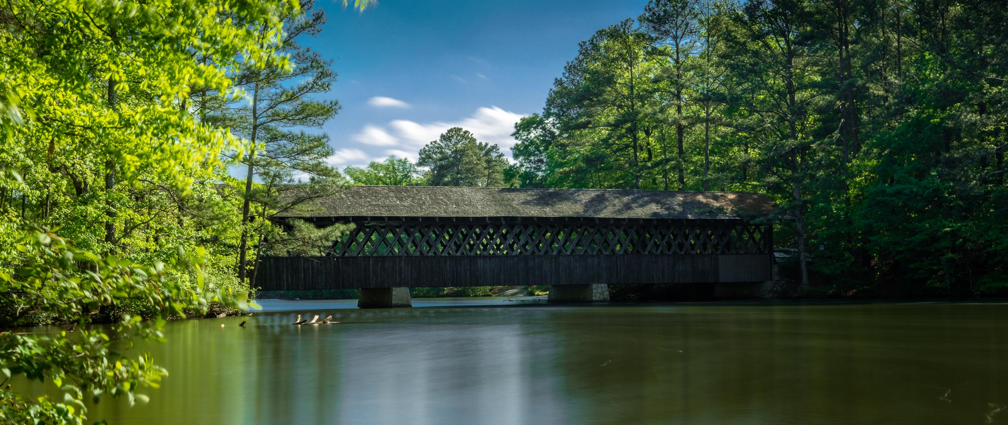Covered Bridge at Stone Mountain Park