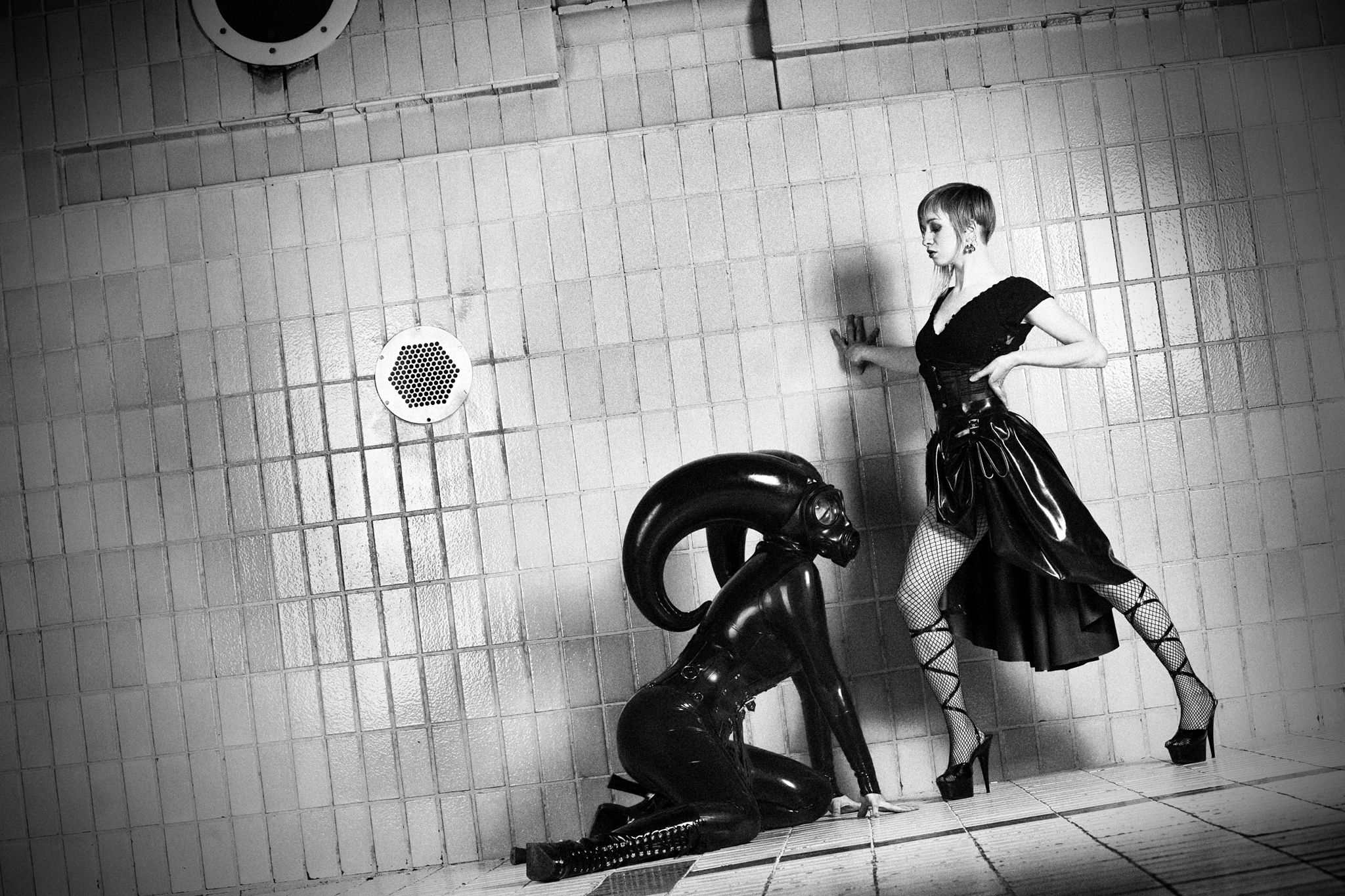Beauty & the Beast Wearing Latex by Libidex, Pretty Pervy and Marquis