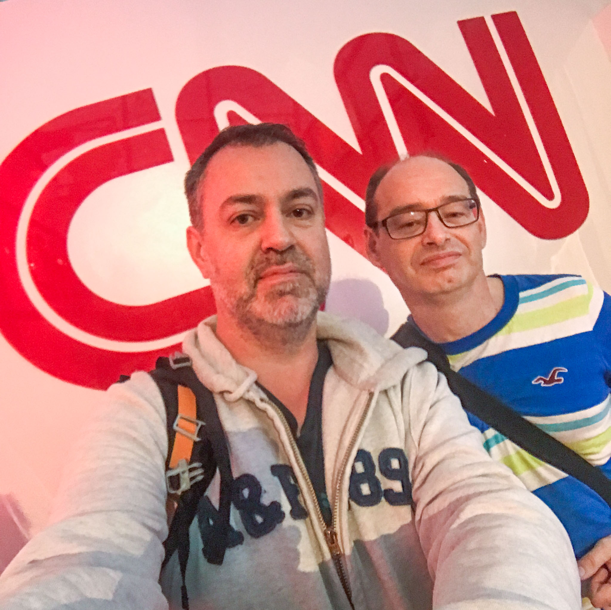 Selfie at the CNN Newsroom in Atlanta, GA
