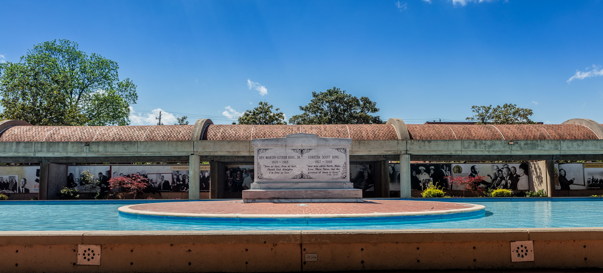 Tomb of Martin Luther King and Wife Coretta Scott King