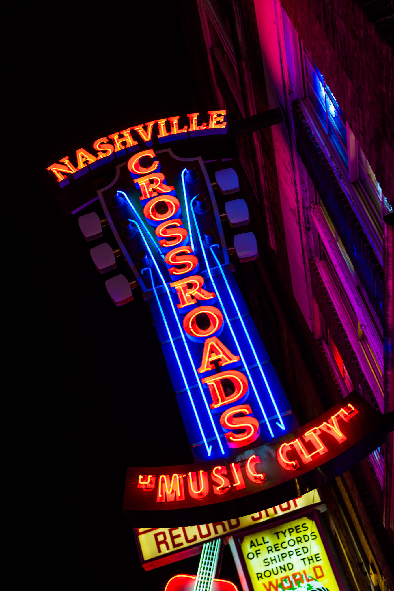 Nashville's Broadway Neon Lights