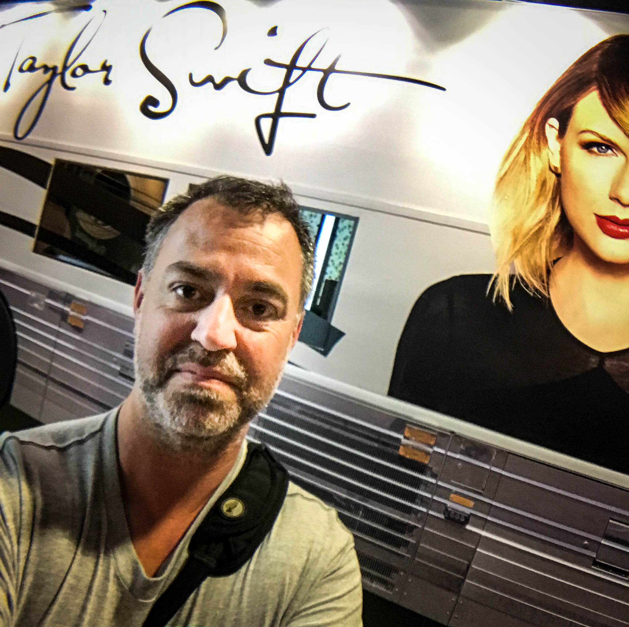 Selfie in Front of Taylor Swift's Tour Bus at CMHOF