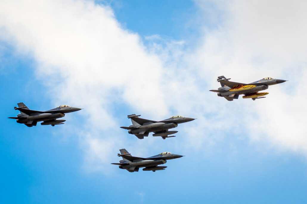 F-16's of the Belgian Air Force 31 Sqn at 2017 Sanicole Air Show