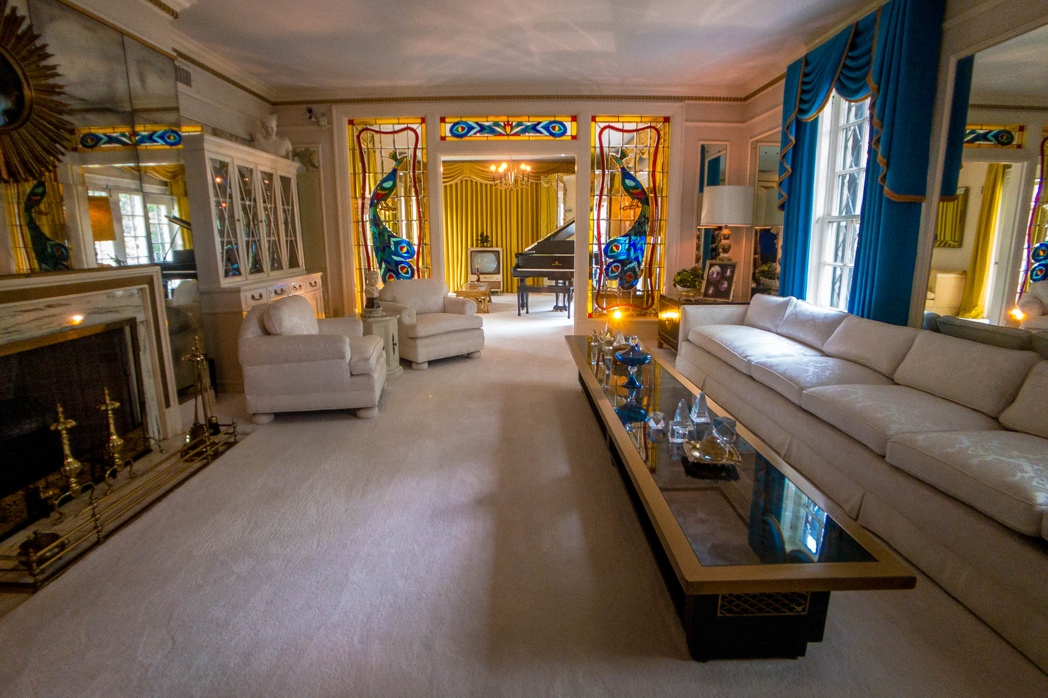 The living room at Elvis Presley's Graceland