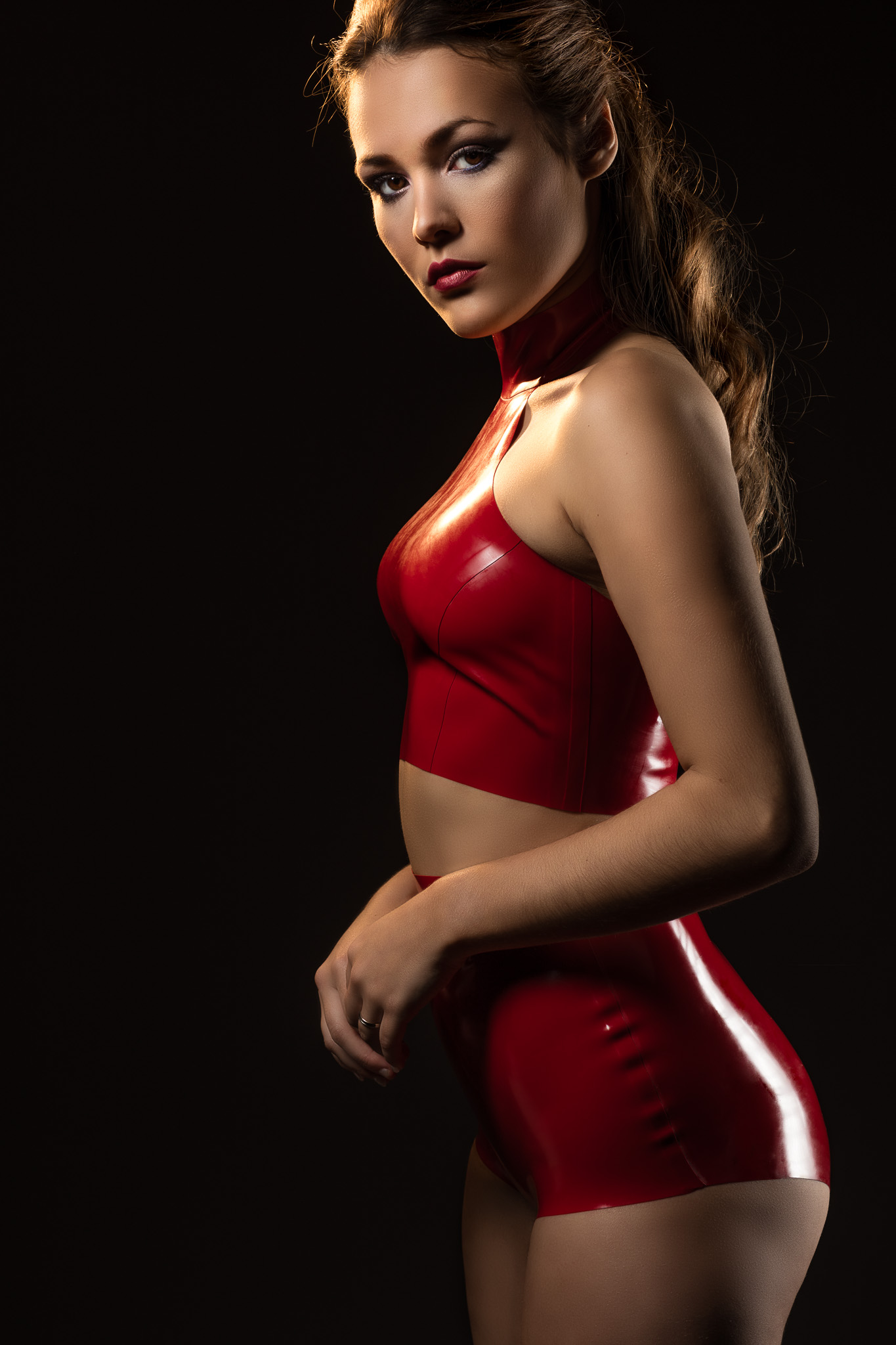 Model Shannety in Latex Lingerie by William Wilde