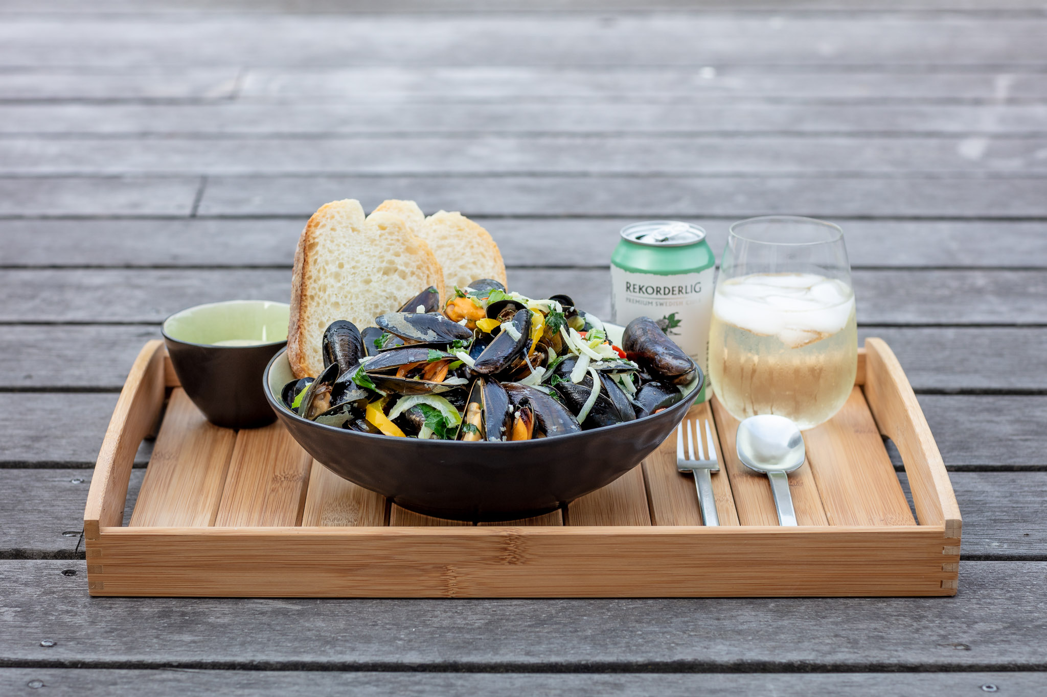 Homemade Bowl of Mussels