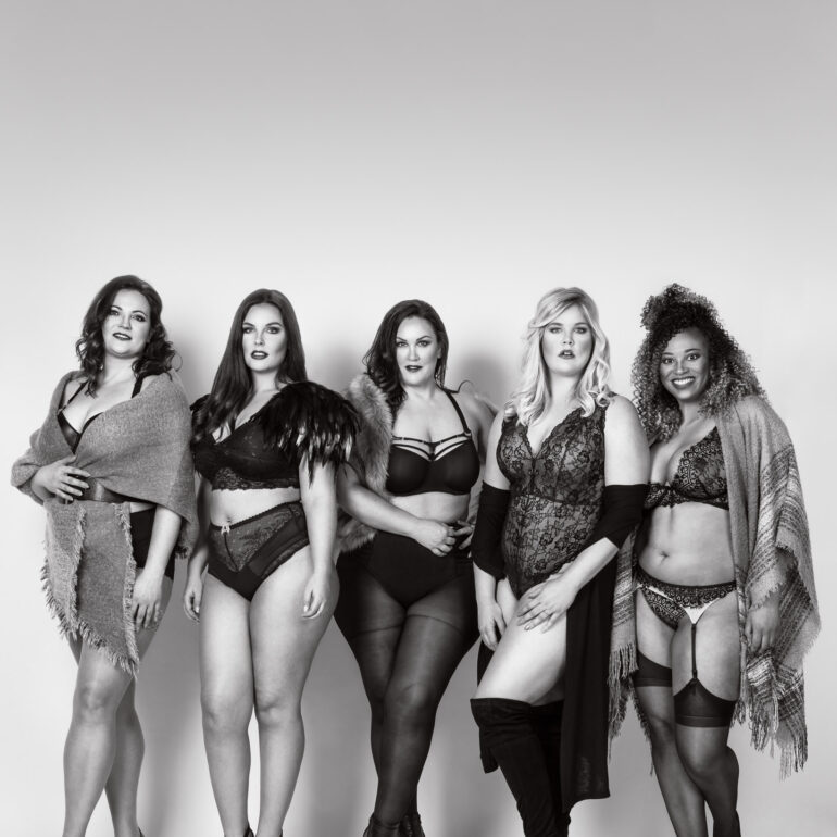 #PlusIsEqual with Models Caroline, Sharon, Liesbet, Elise & Cindy