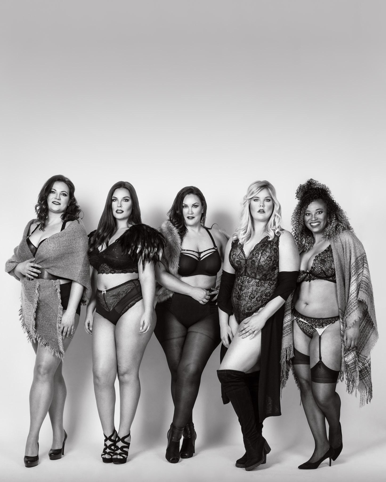 #PlusIsEqual with Models Caroline, Sharon, Liesbet, Elise & Cindy