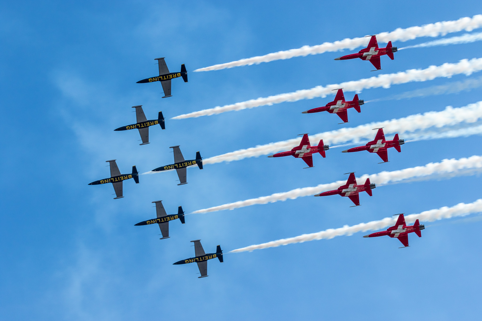 Breitling Jet Team with Patrouille Suisse