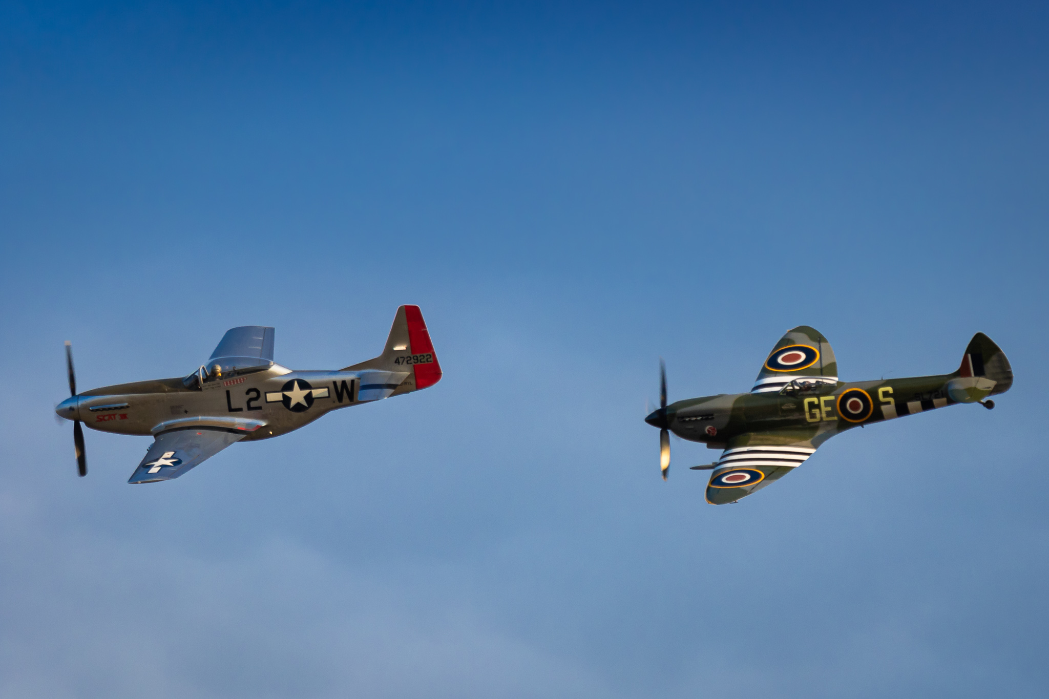 North American P-51 Mustang & Supermarine Spitfire