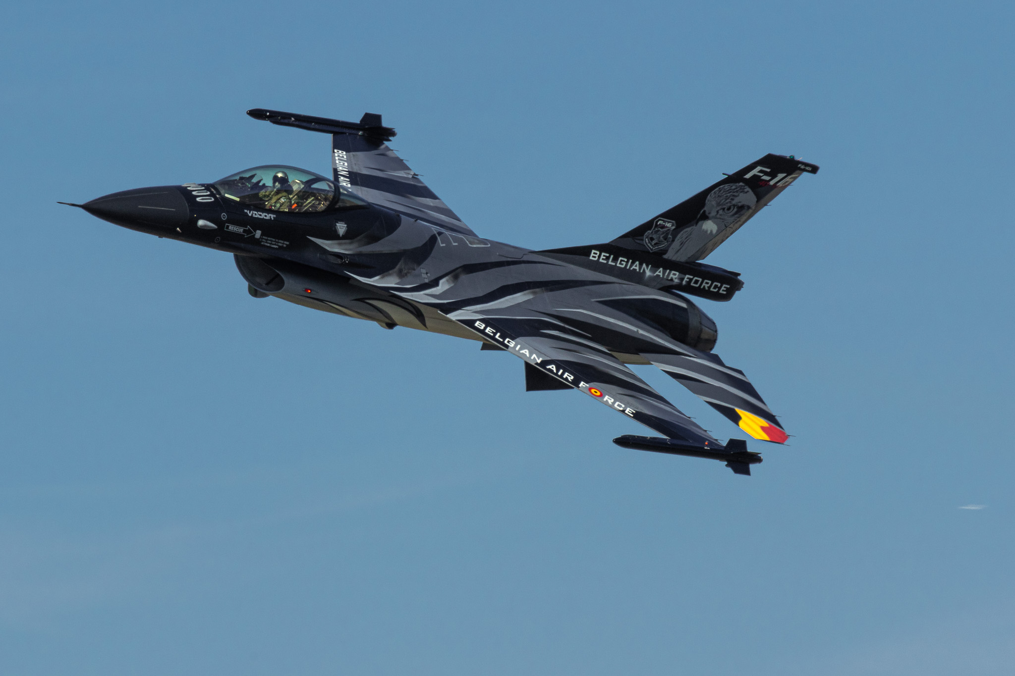 BAF F-16 Solo Display – Dark Falcon