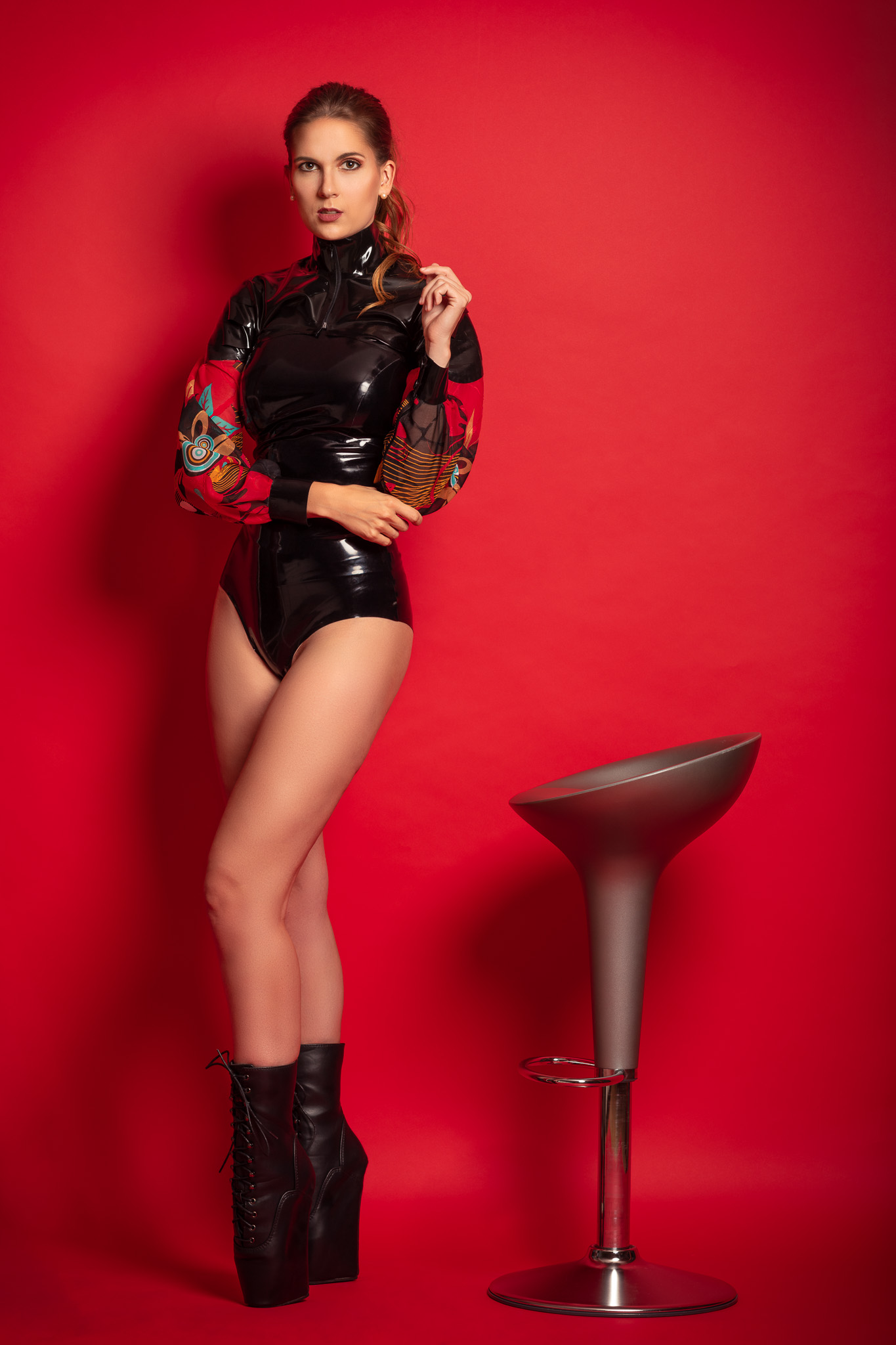 Magalie in Latex & Ballet Heels