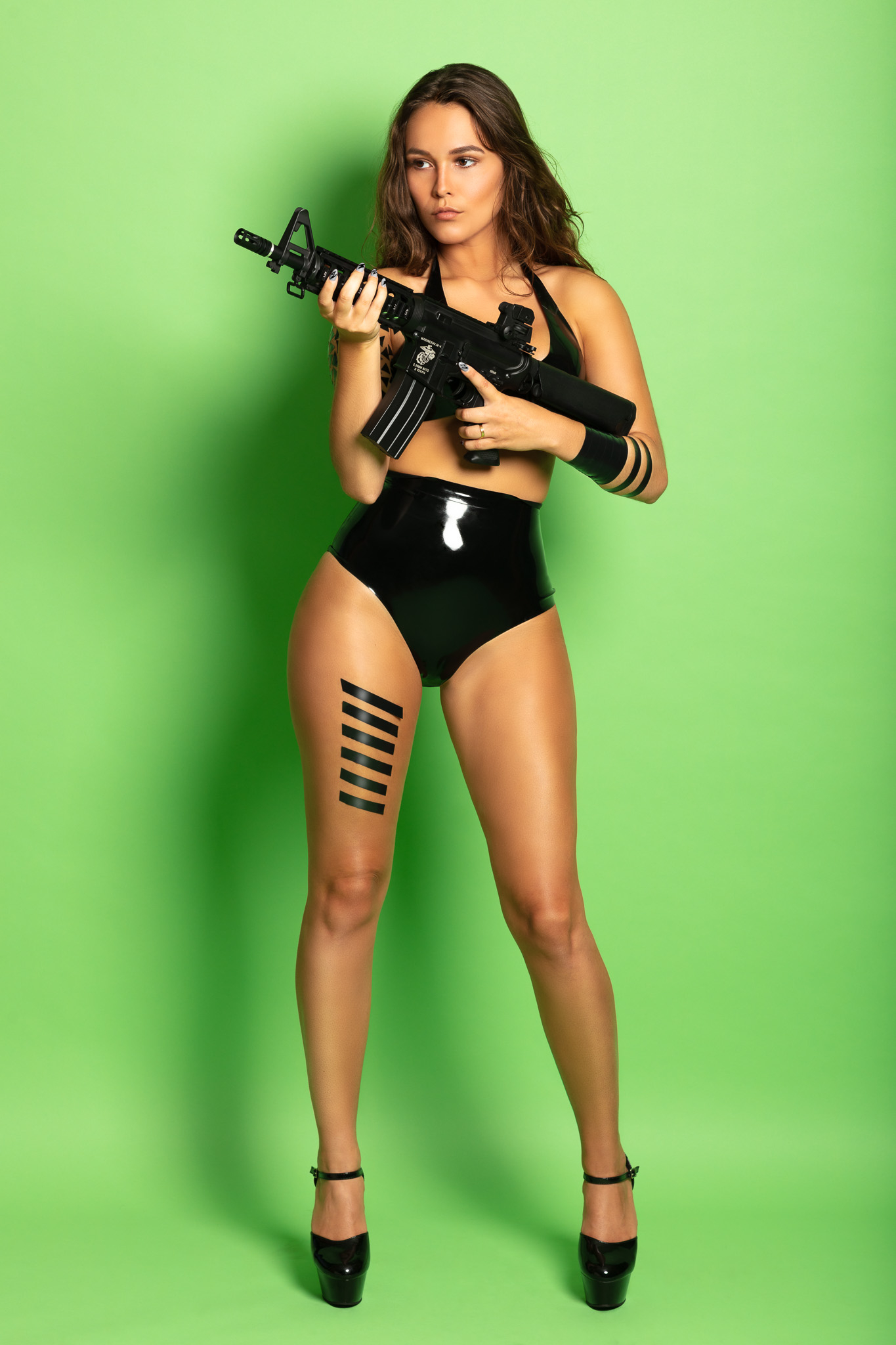 #blacktapeproject with Model Shannety Wearing Latex