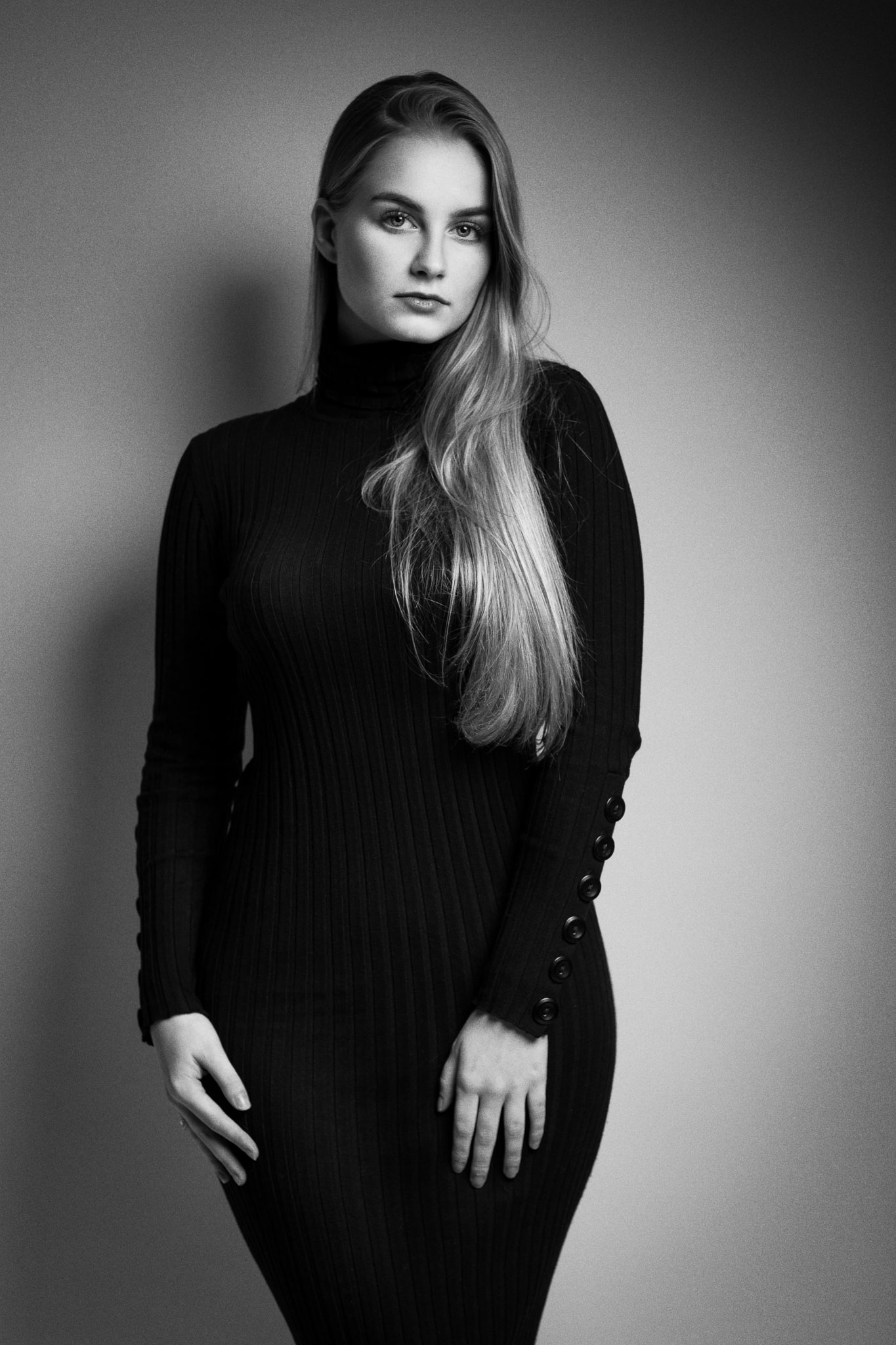 Classic Black & White with Model Romi