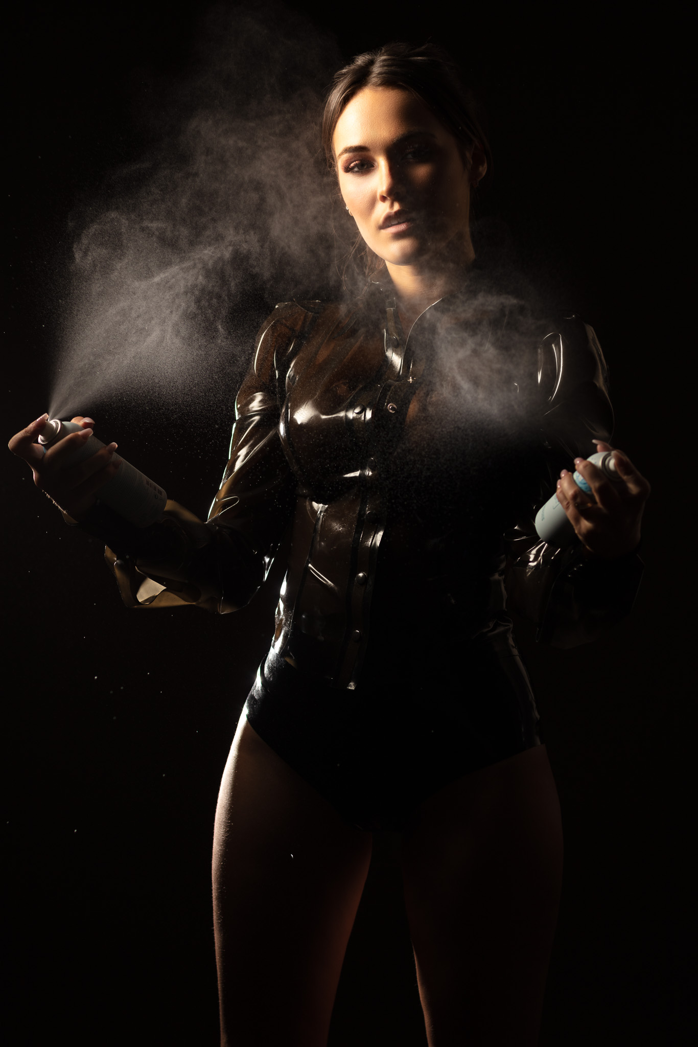 Dark and Edgy Shannety in Latex
