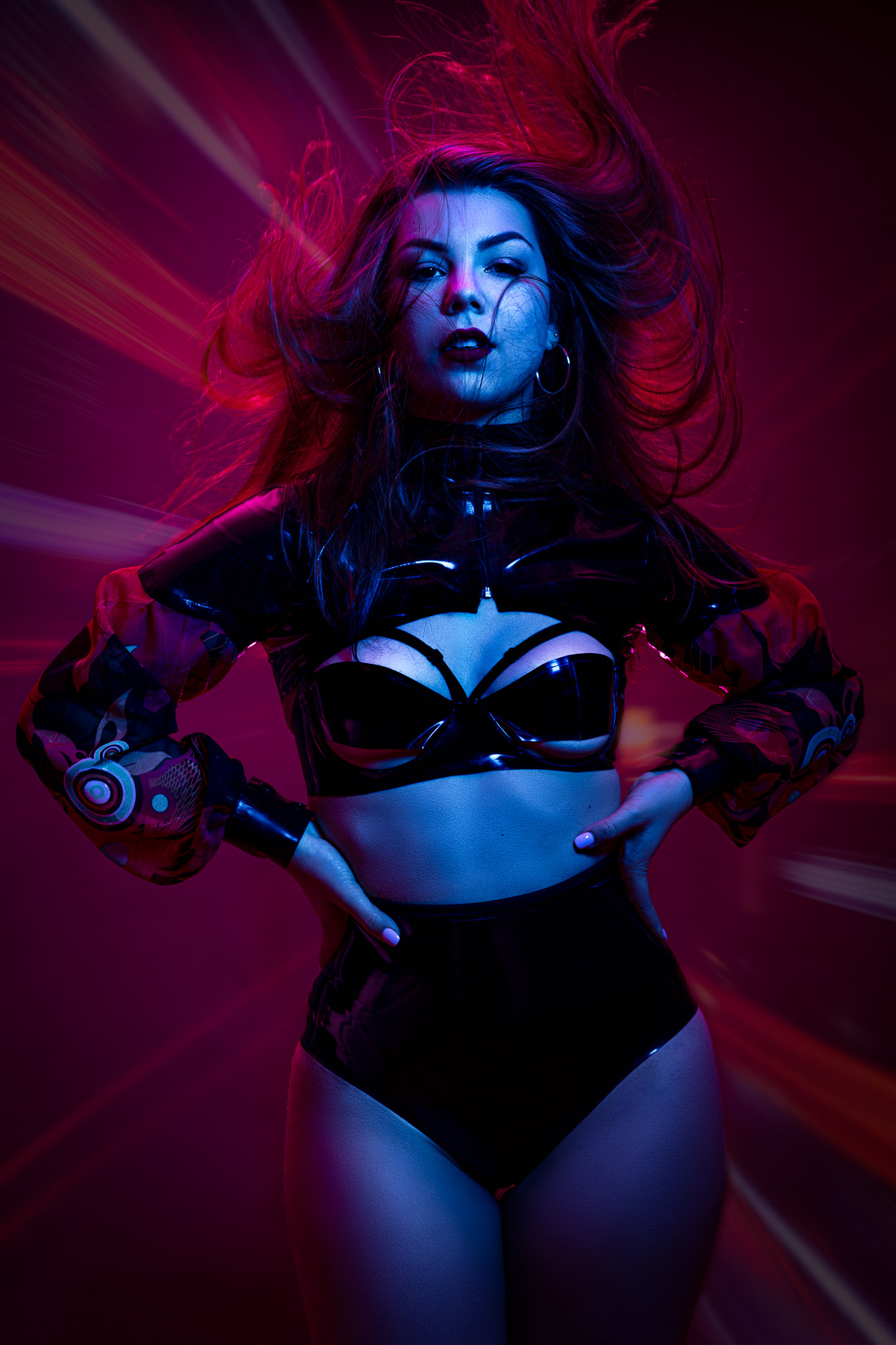 Cool Latex, Cool Color Gel Lights & Model Axelle